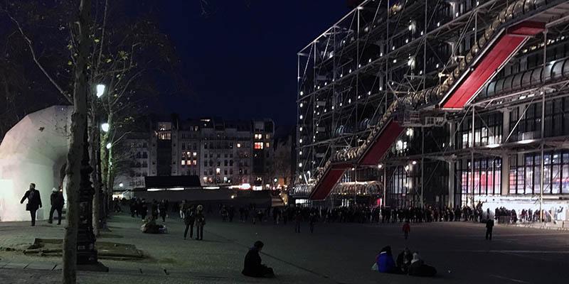 Modern architecture in Paris Le Centre Pompidou Renzo Piano Richard Rogers