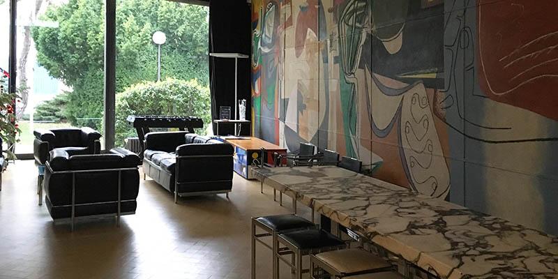 Swiss pavilion designed by Le Courbusier