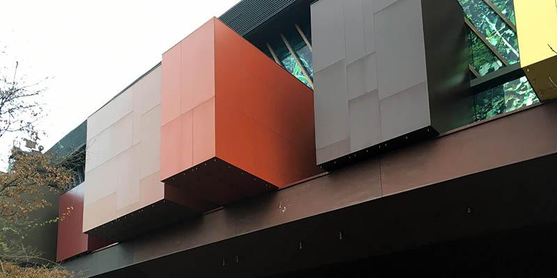 Modern architecture in Paris Musee du quai Branly by Ateliers Jean Nouvel