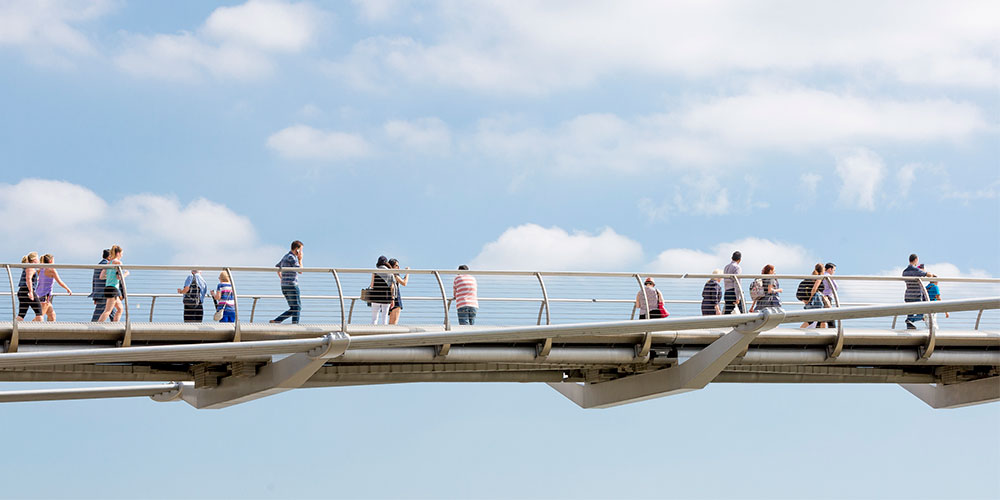 Millennium bridge by Foster + Partners