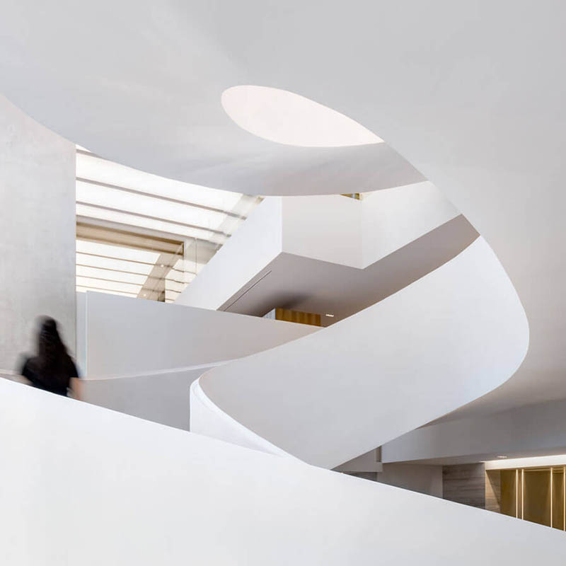 Most elegant spiral staircases in contemporary architecture
