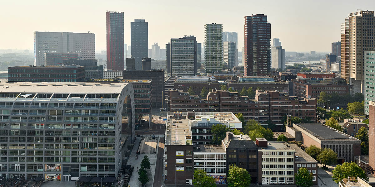 a new high-rise building in Rotterdam by Barcode Architects