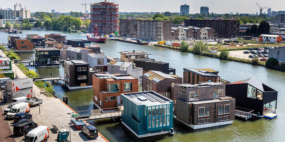 Schoonschip, a socially sustainable community on floating houses