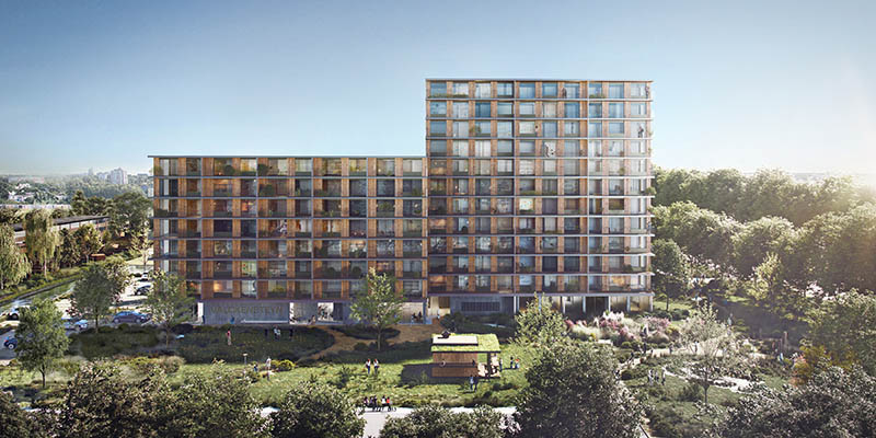 timber building set toaffordable housing