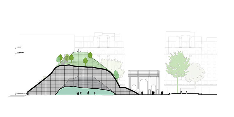 Marble Arch Hill by MVRDV in London