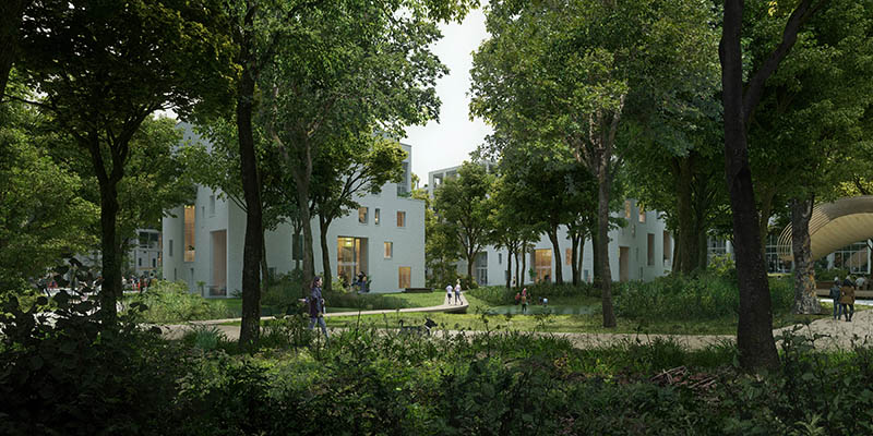 Powerhouse Compnay Houben/Van Mierlo, Vector-i and DELVA Landscape Architects and Urbanists design Holt in Groningen