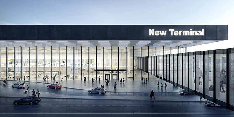 Glass building | Schiphol New Terminal by KAAN Architecten and Estudio Lamela