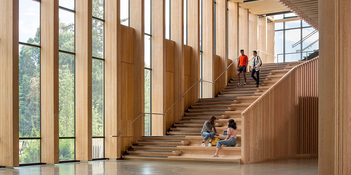 Michael Green Architecture completed two new mass timber buildings for the College of Forestry at Oregon State University.