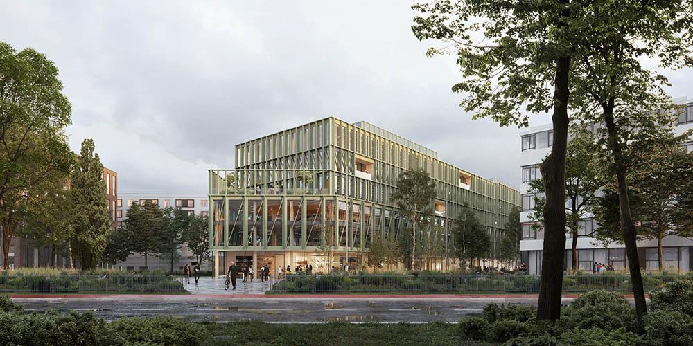 i8 wood hybrid building by C.F. Moller