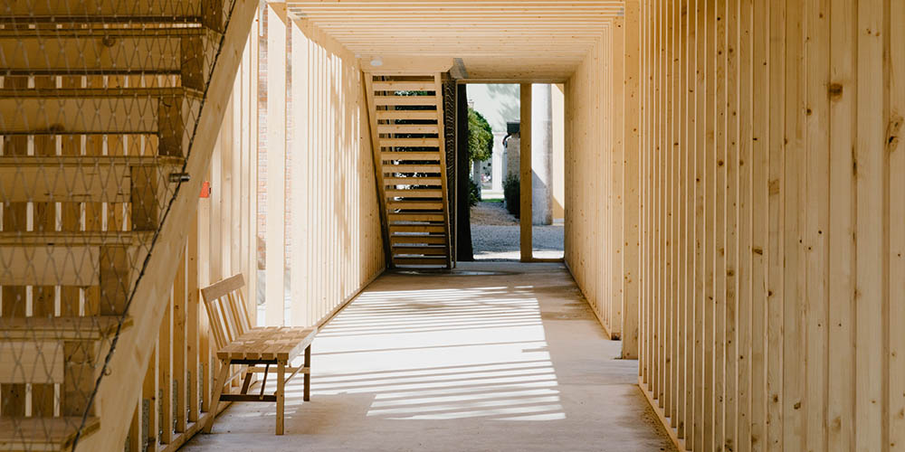 The architecture of wood framing at the Venice Architecture Biennale