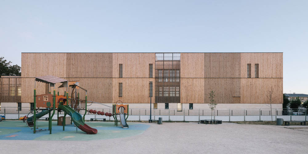 Simone de Beauvoir (wooden) School by Bond Society and Daudré-Vignier & Associés