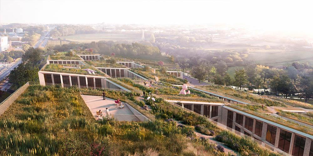 Fuse Valley, Farfetech Headquarters and urban fashion village by BIG